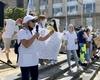 Des infirmiers et aides-soignants rassemblés à Bruxelles pour un