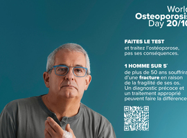 À partir de 50 ans, 1 femme sur 3 et 1 homme sur 5 subissent une fracture osseuse due à l'ostéoporose