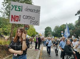 Environ 3.500 manifestants à Bruxelles au nom de la liberté sanitaire