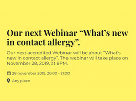 Webinar: What's new in contact allergy