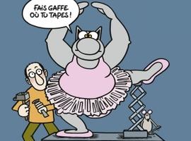 Le Chat de Geluck se prépare à une balade sur les Champs-Elysées